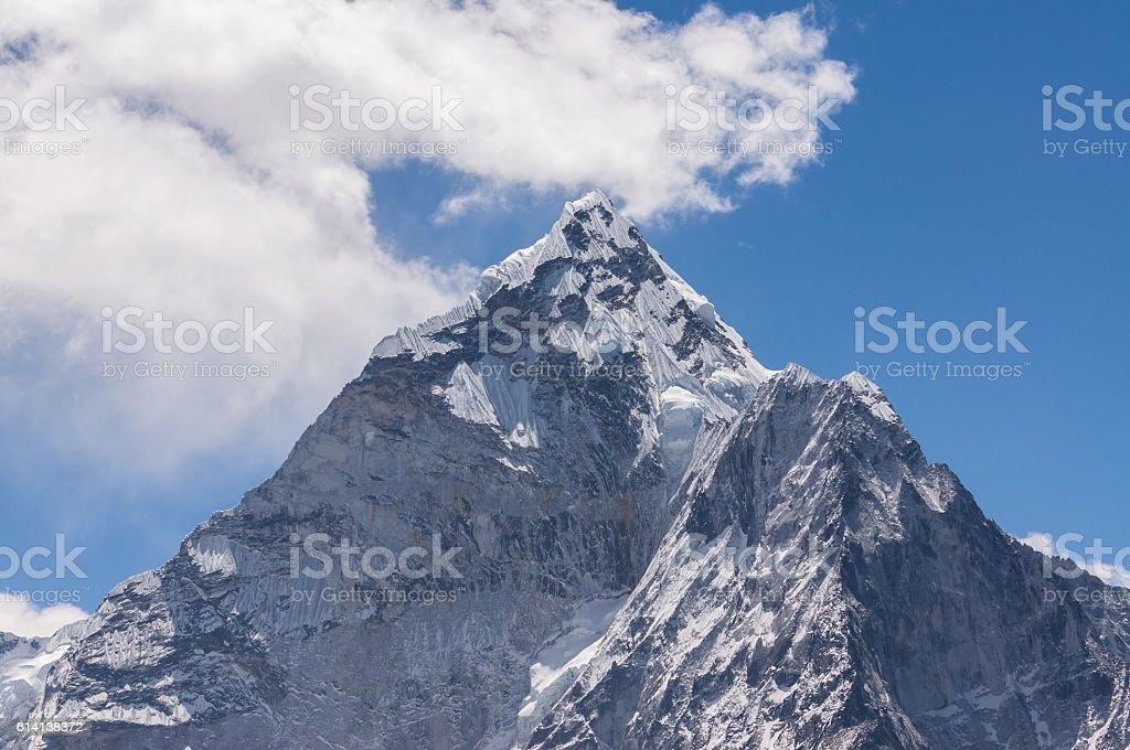 Ama Dablam peak view, Everest region stock photo