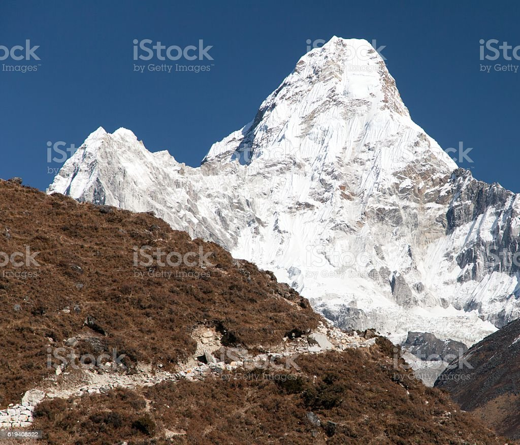 Ama Dablam - way to Everest base camp stock photo