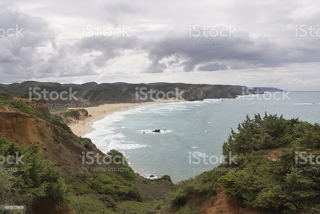 Amado beach on Portgual's Algarve coast stock photo