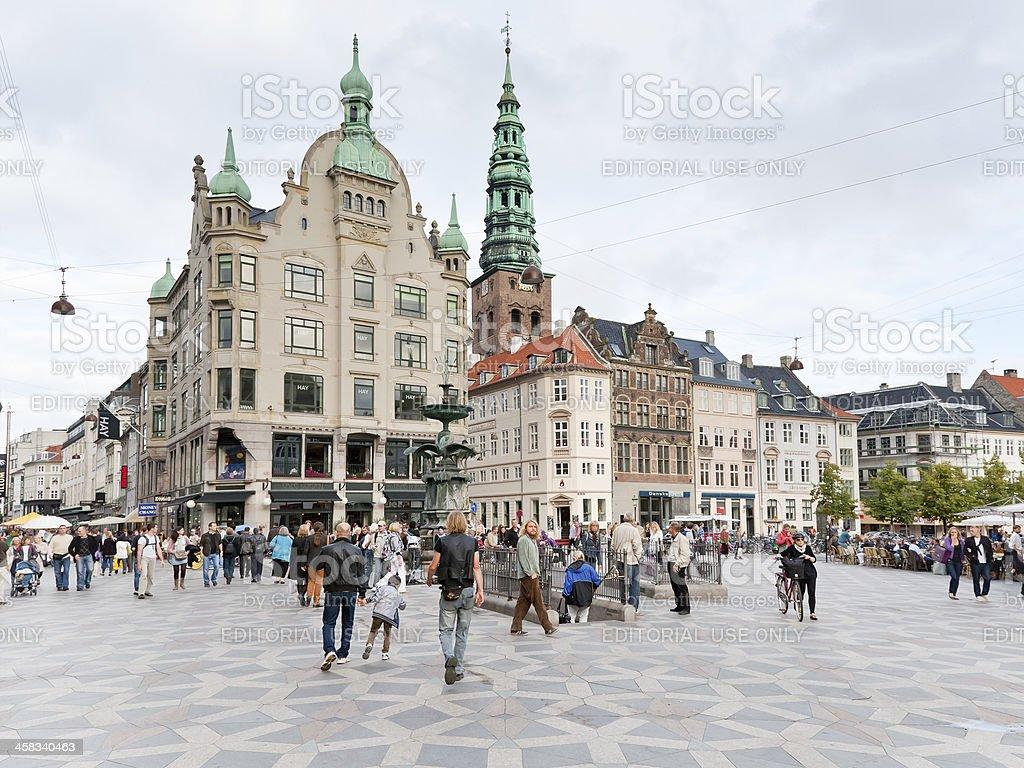 Amagertorv -  the most central square in Copenhagen stock photo