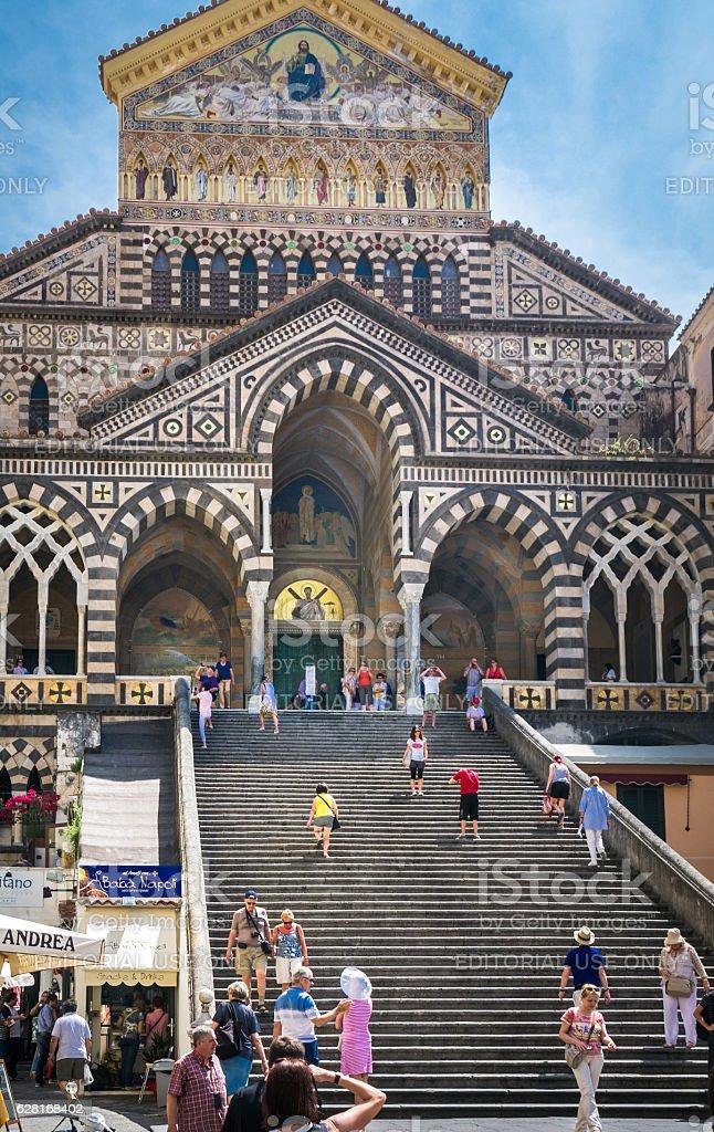 Amalfi Cathedral Facade stock photo