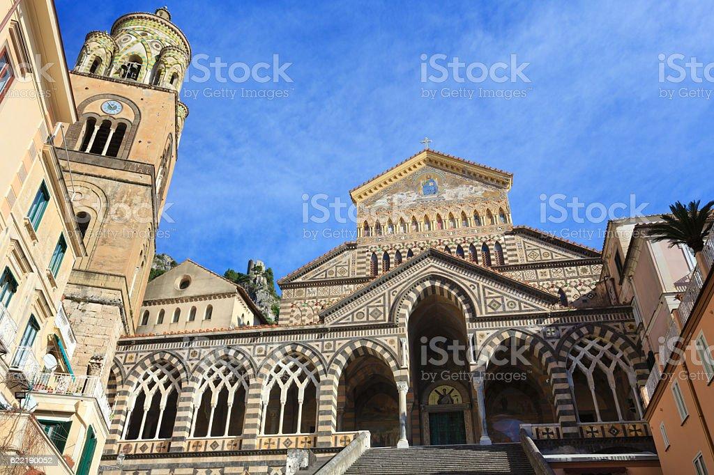 Amalfi Cathedral, Italy. stock photo