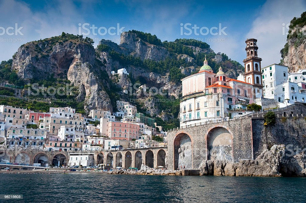 Amalfi Coast from the Sea stock photo
