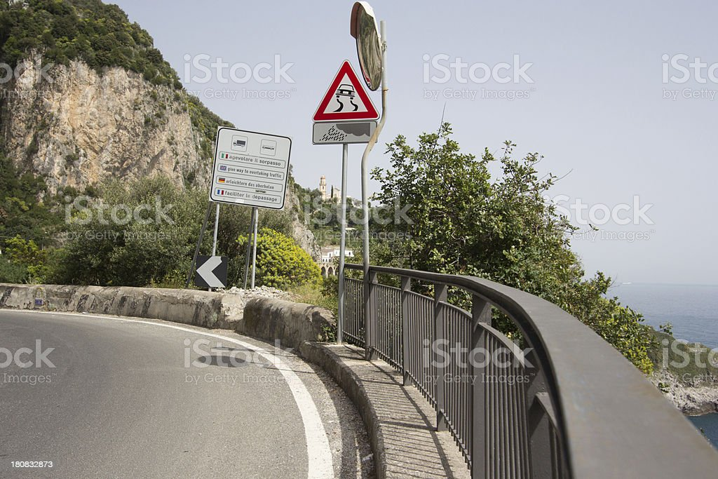 Amalfi Coast in Campania, Italy royalty-free stock photo