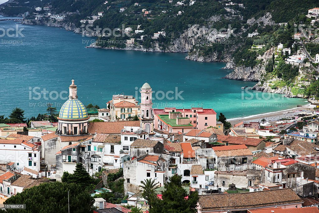 Amalfi Coast Landscape Vietri Village, Italy royalty-free stock photo