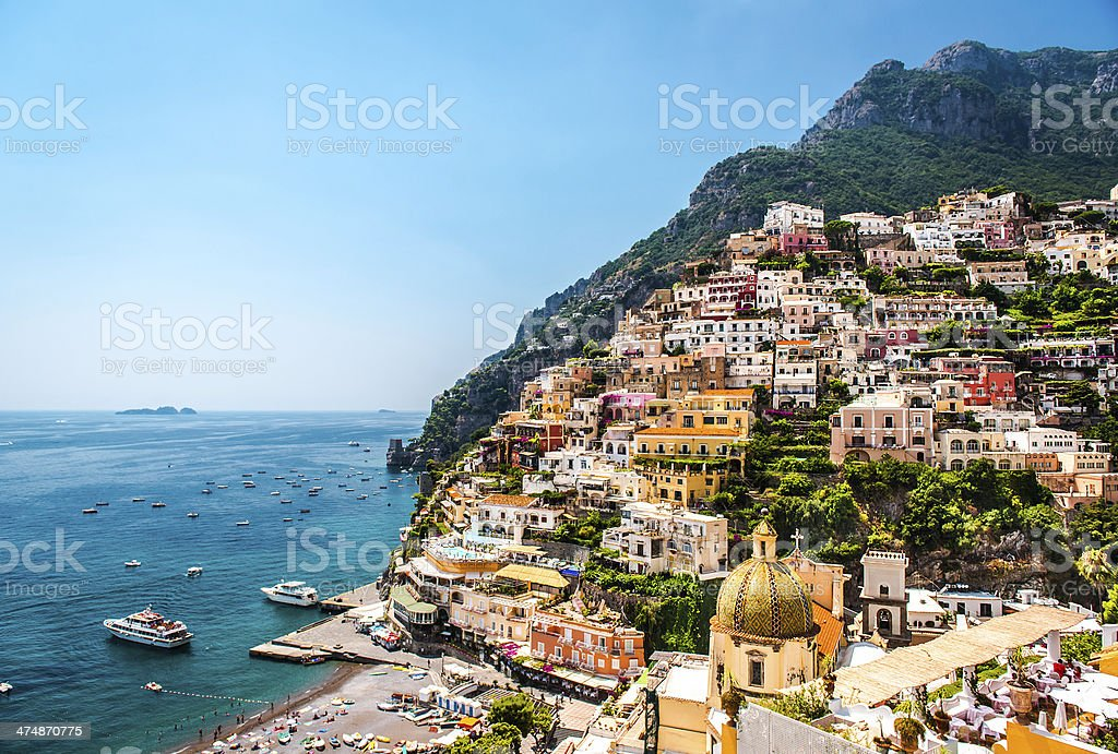 Amalfi coast stock photo