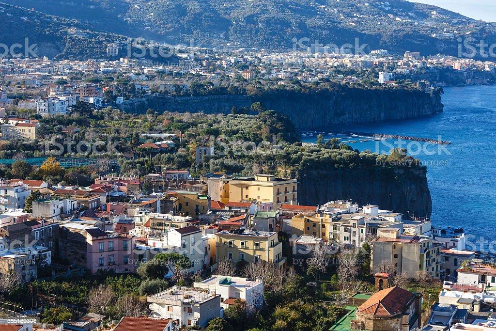Amalfi coast sea view. stock photo