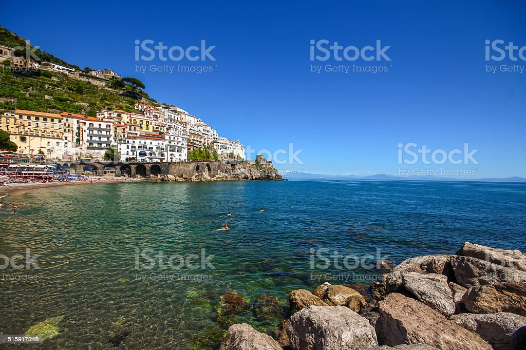 Amalfi coast, South Italy stock photo