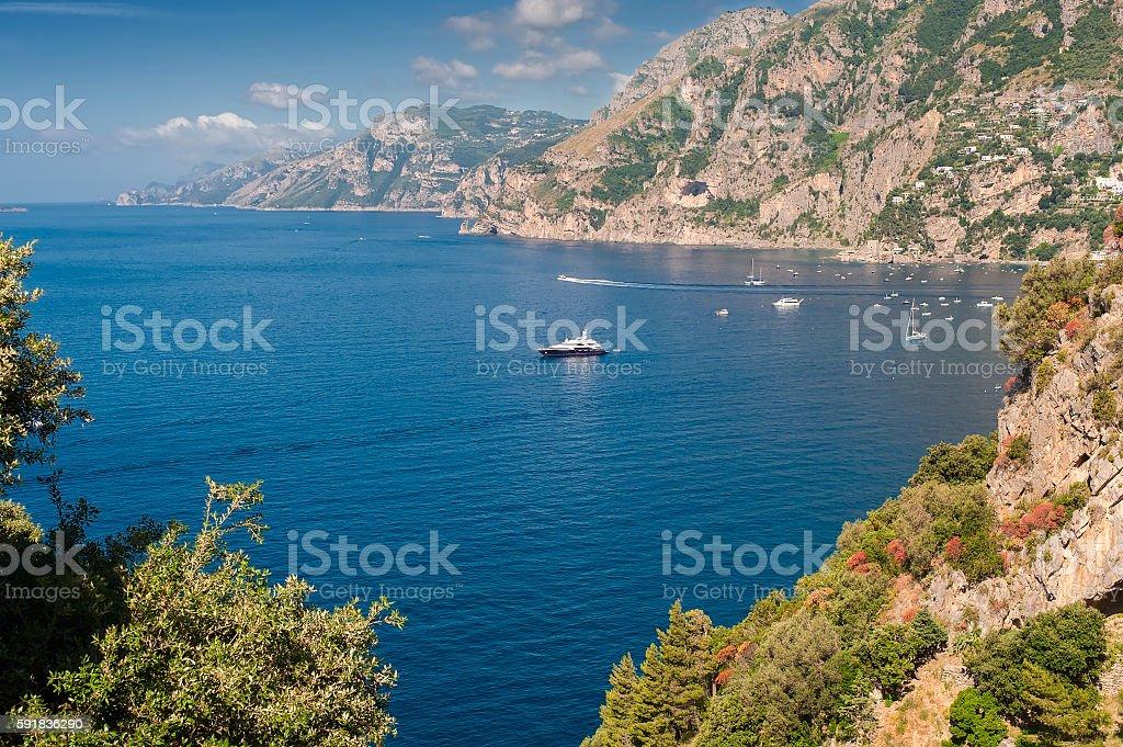 Amalfi coast view stock photo