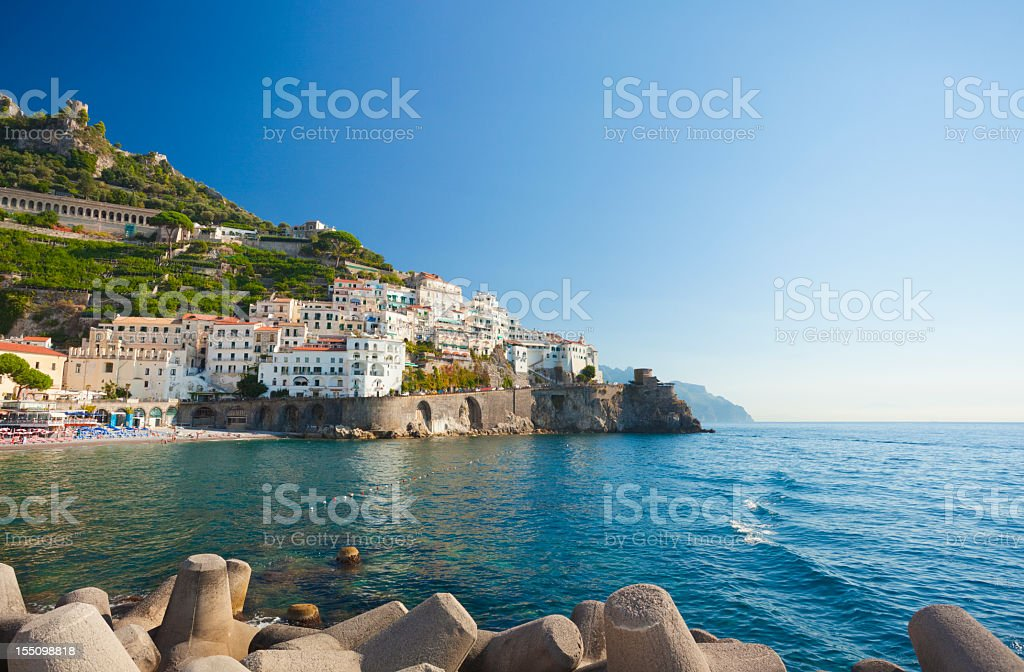 Amalfi coastline in Campania, Italy stock photo