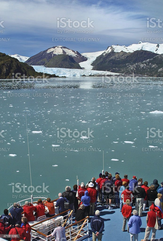 Amalia Glacier, Chile stock photo