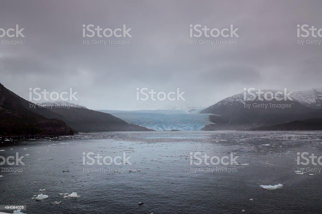 Amalia Glacier Landscape, Chile stock photo