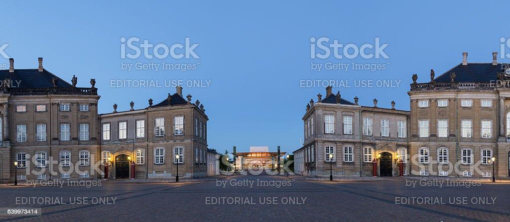 Amalienborg Palace and Opera House in Copenhagen stock photo
