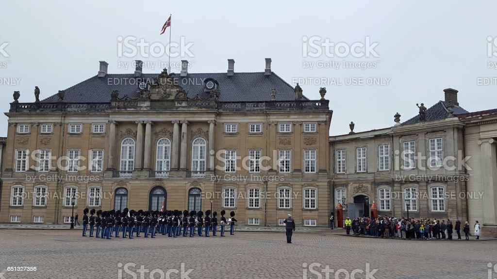Amalienborg Palace - Copenhagen, Denmark. stock photo
