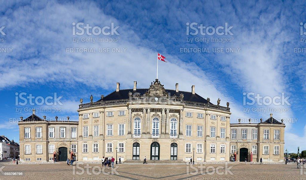 Amalienborg palace in Copenhagen stock photo