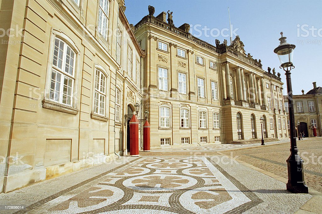 Amalienborg Palace royalty-free stock photo