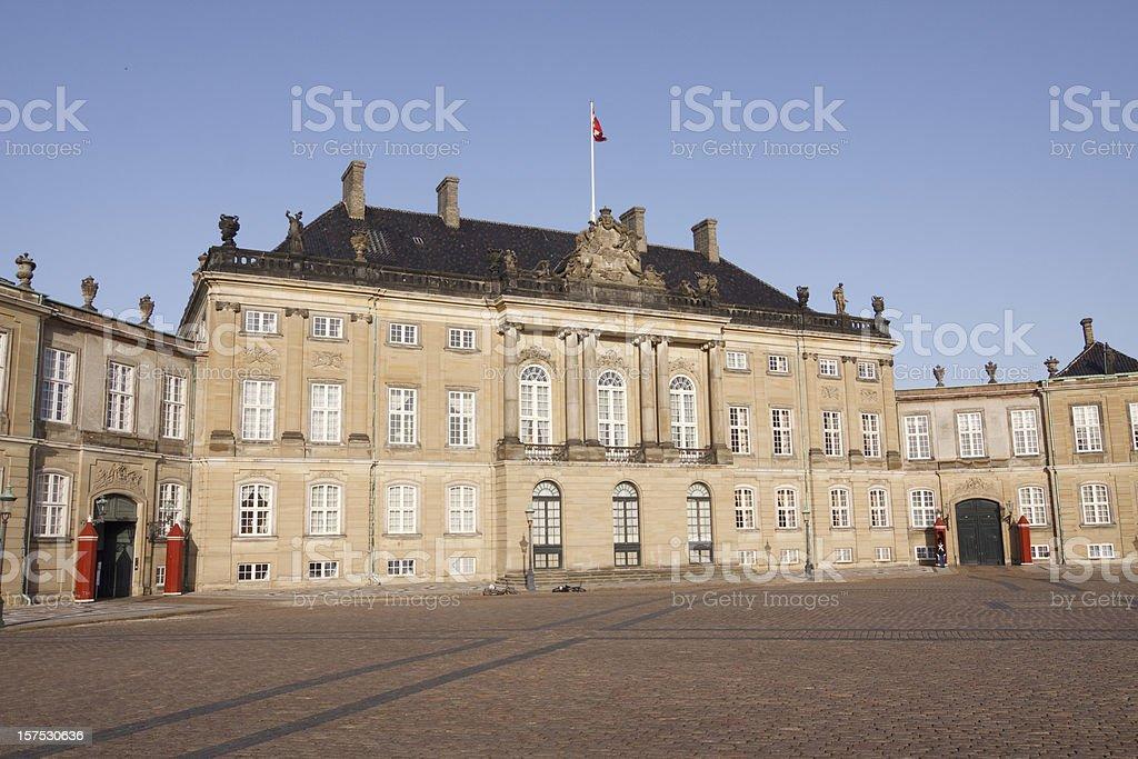 Amalienborg Royal Palace Copenhagen stock photo