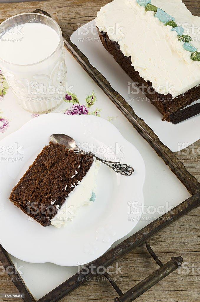 Amaranth Chocolate Brownie Cake royalty-free stock photo