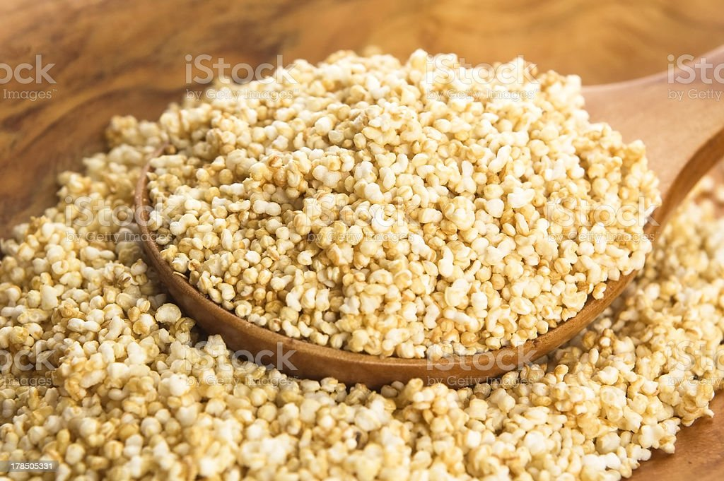 Amaranth popping, gluten-free, high protein grain cereal royalty-free stock photo