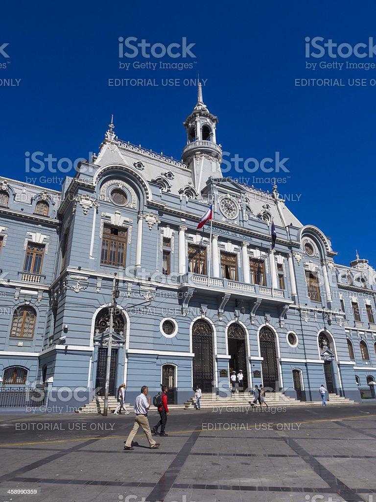 Amarda de Chile building, Valparaiso royalty-free stock photo
