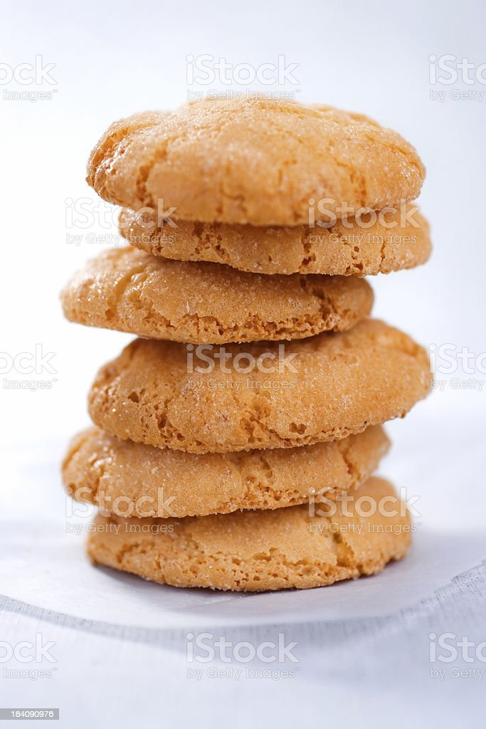 Amaretti Cookies royalty-free stock photo