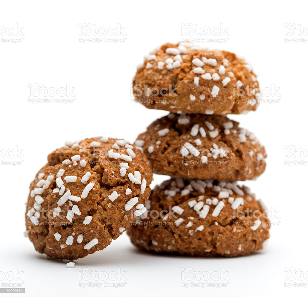 Amaretti Italian cookies stock photo