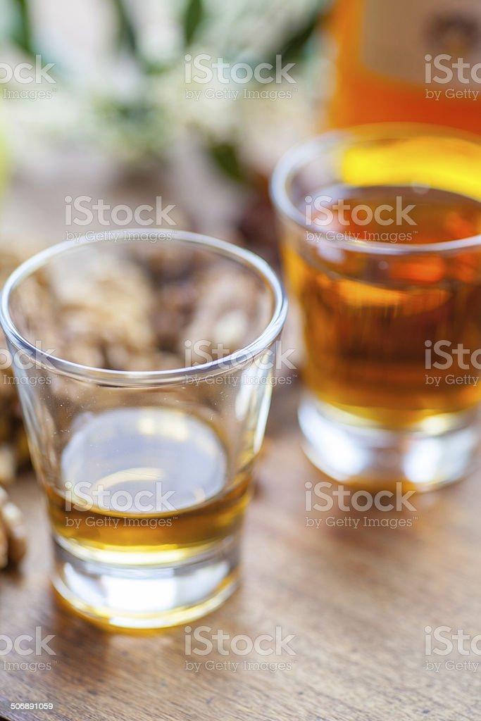 Amaretto In Glass stock photo