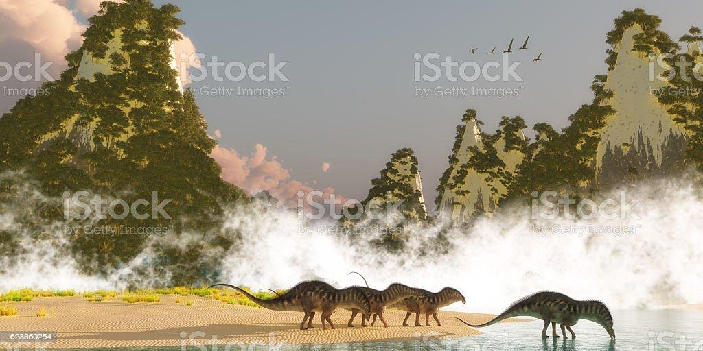 Amargasaurus Dinosaurs stock photo