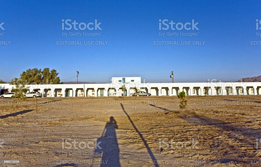 Amargosa Opera House & Hotel in village 'Death valley Junction' stock photo