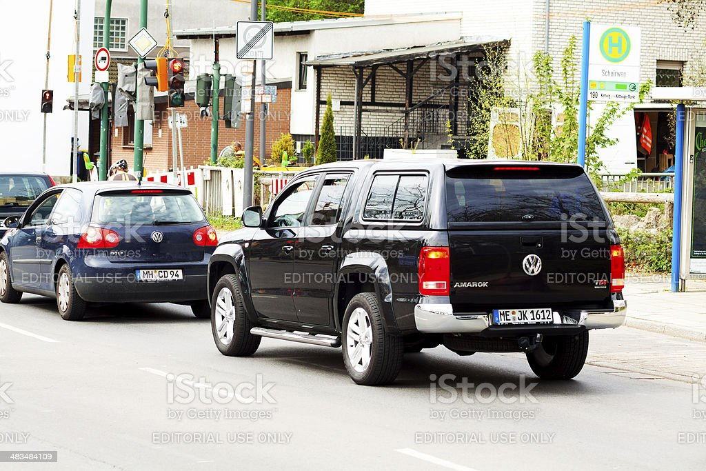 VW Amarok on street stock photo