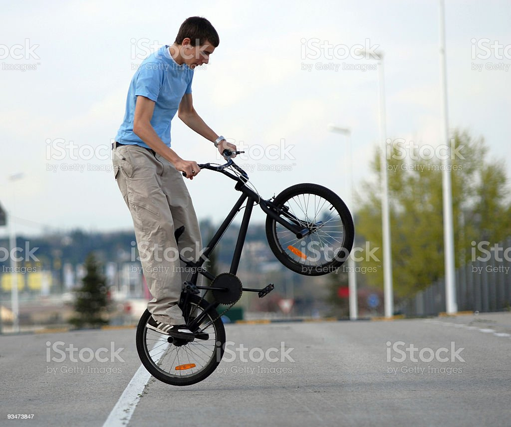 amateur biker freestyle royalty-free stock photo
