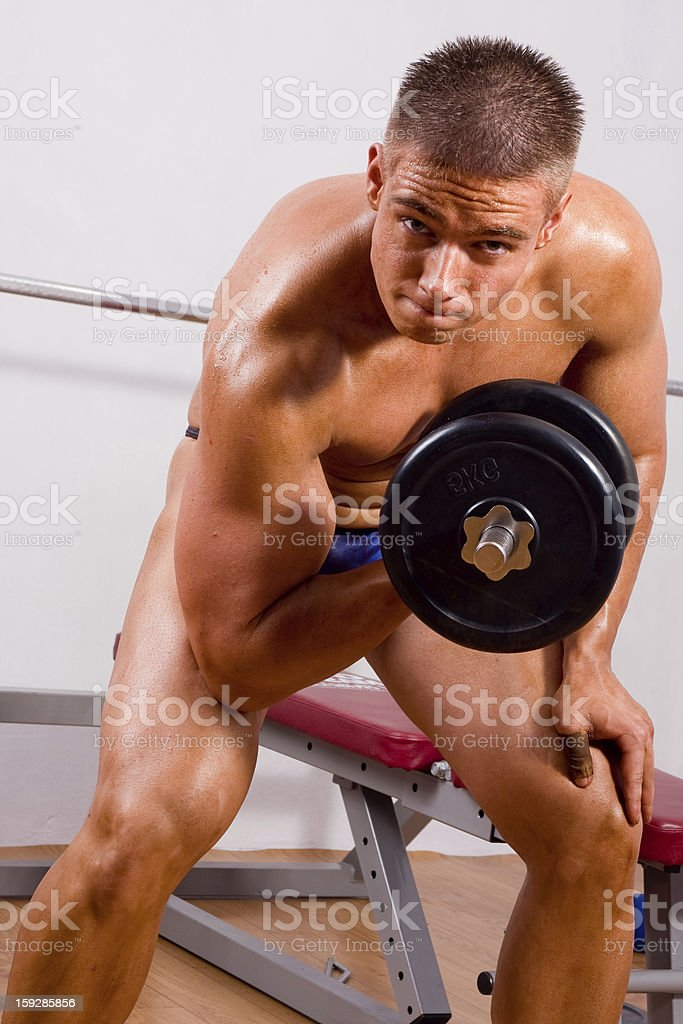 amateur bodybuilder training royalty-free stock photo