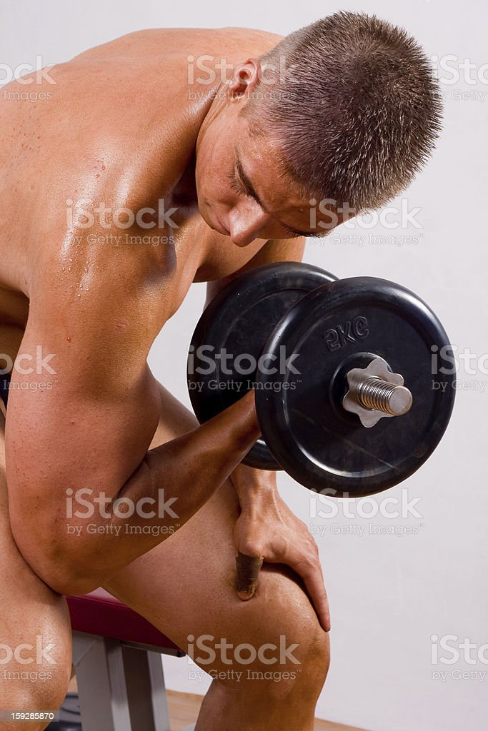amateur bodybuilder training royalty-free stock photo