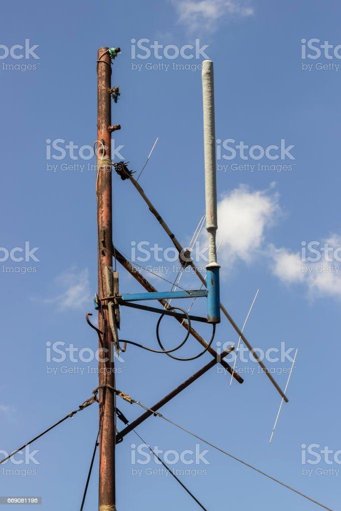 Amateur radio antenna 2 stock photo