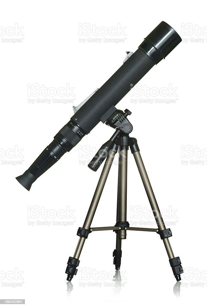 Amateur Telescope stock photo