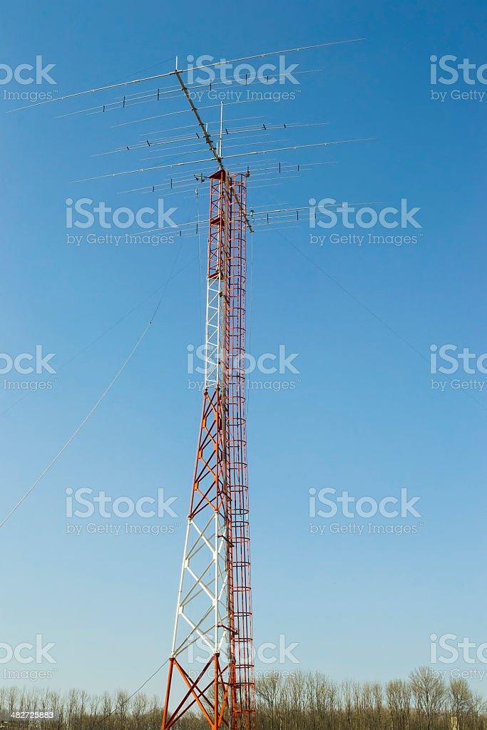 Amateur Yagi radio antenna stock photo
