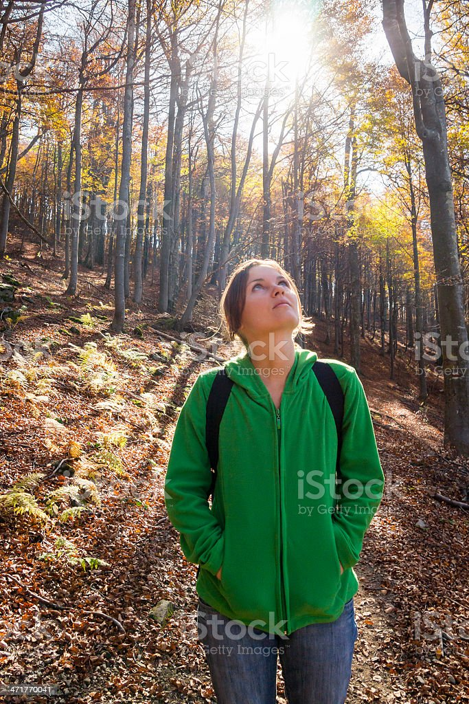 Amazed by nature royalty-free stock photo