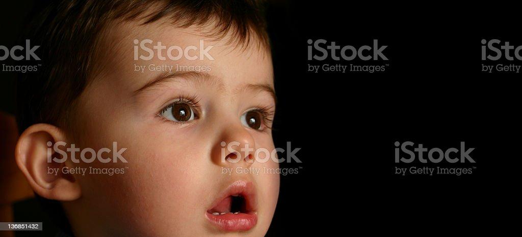 Amazed child stock photo