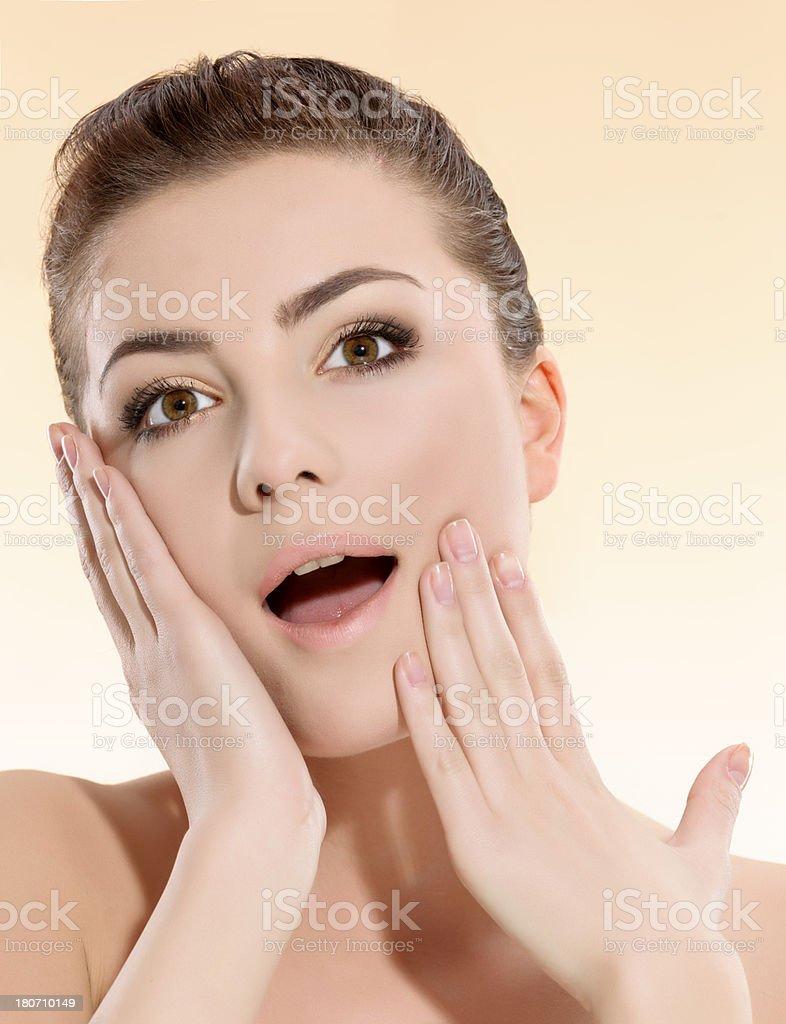 amazed expression royalty-free stock photo
