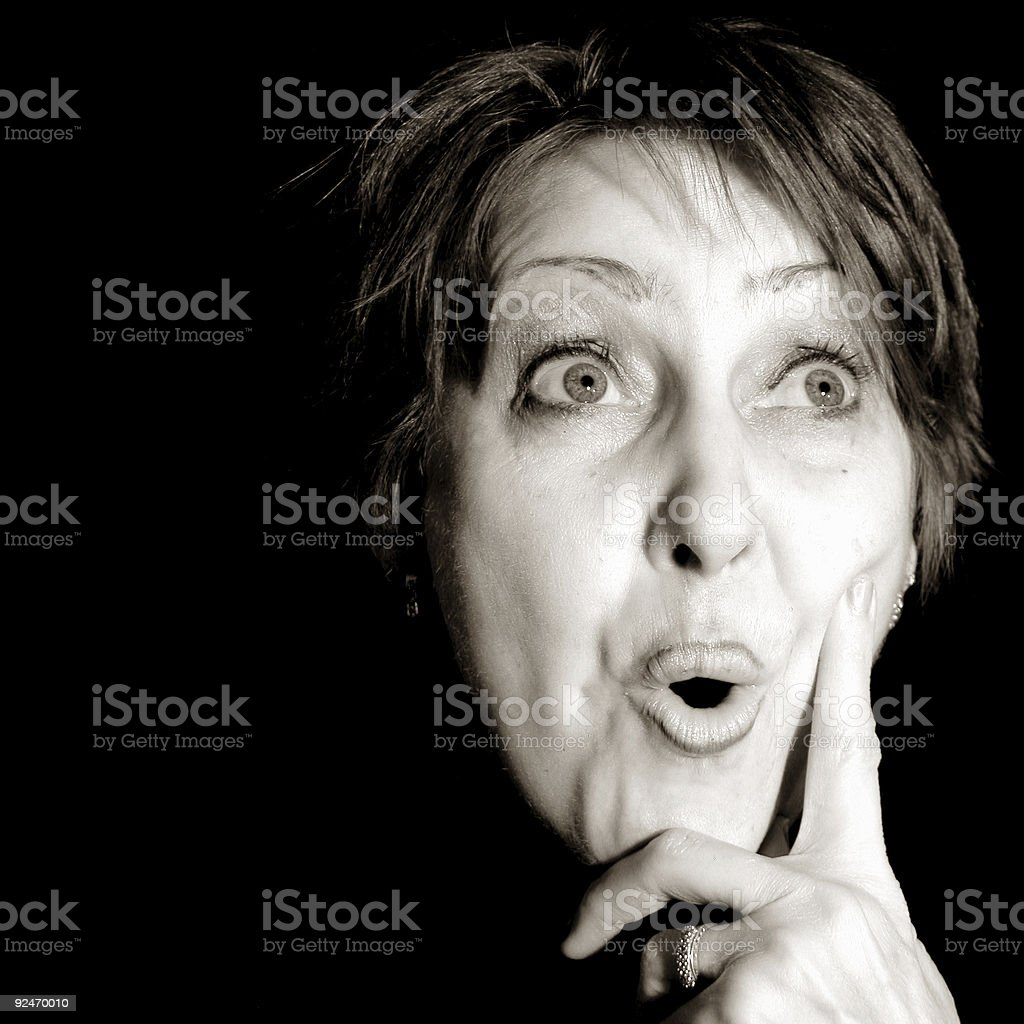 Amazed Lady stock photo