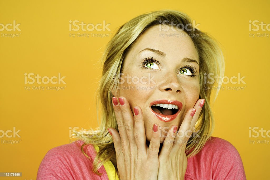 Amazed royalty-free stock photo