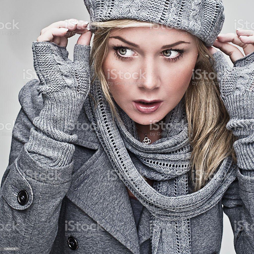 amazed woman royalty-free stock photo