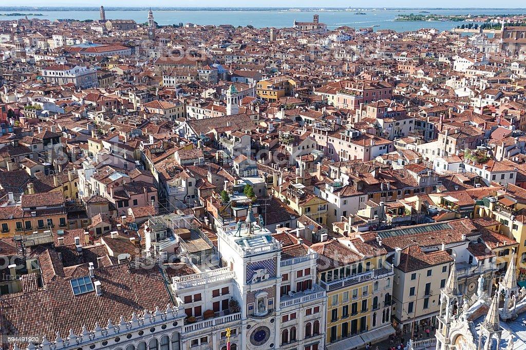 Amazing aerial view over the city of Venice Lizenzfreies stock-foto