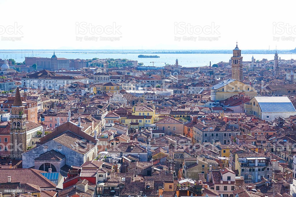Amazing aerial view over the city of Venice Lizenzfreies stock-foto