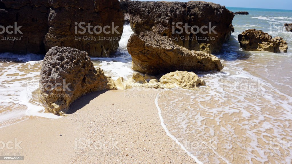 amazing algarve coast in portugal stock photo