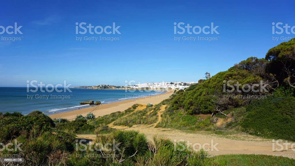 amazing algarve coast in portugal stock photo