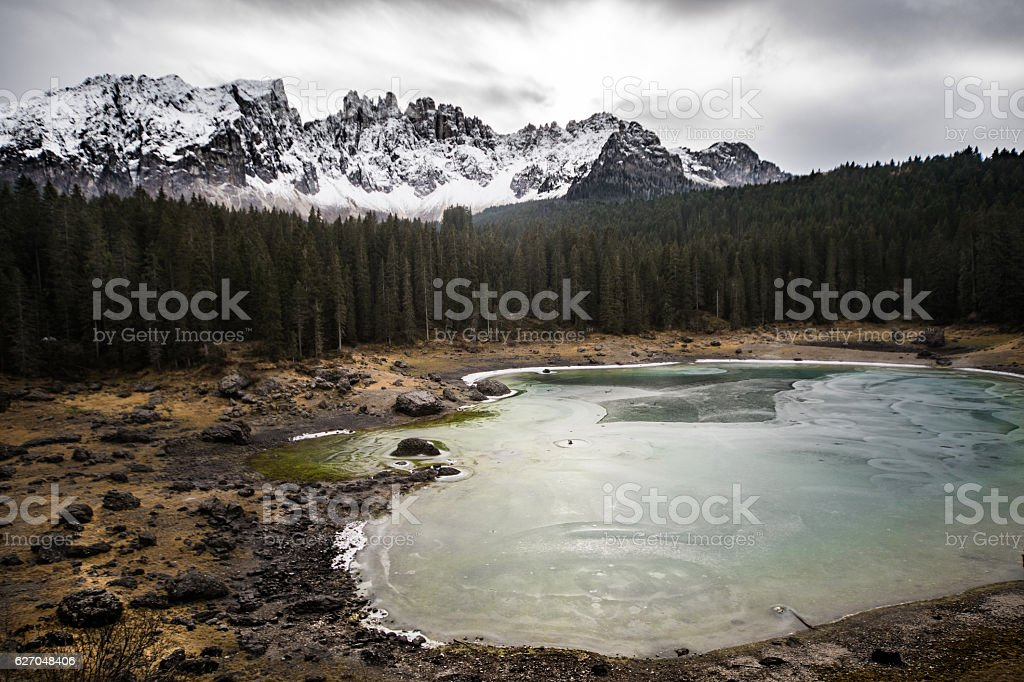 Amazing Alps landscape in Italy - Dolomites stock photo