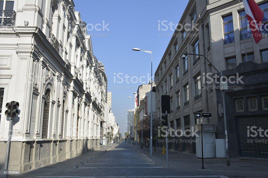 Amazing architecture in chile stock photo