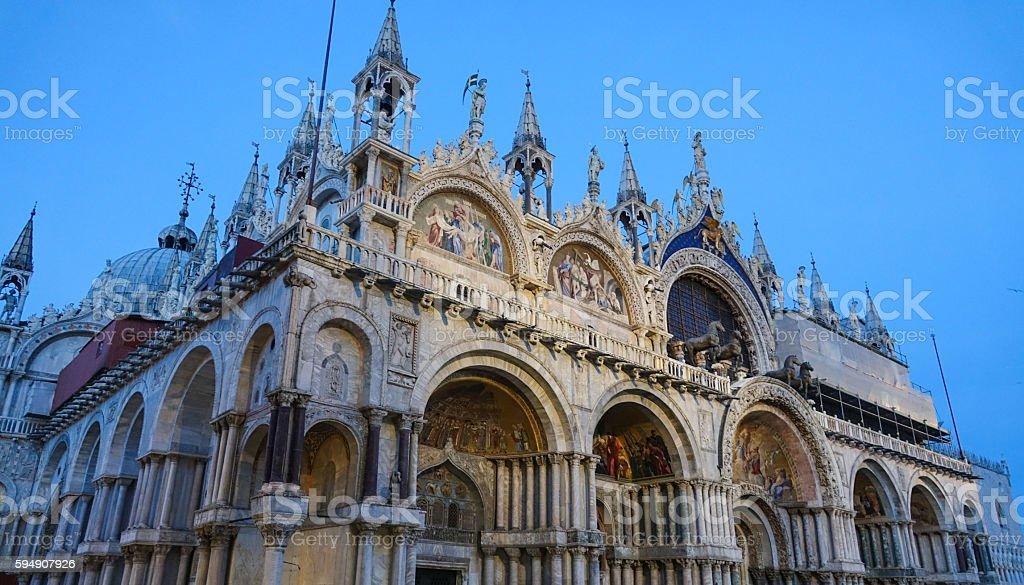 Amazing Basilica San Marco in Venice St Mark s square Lizenzfreies stock-foto