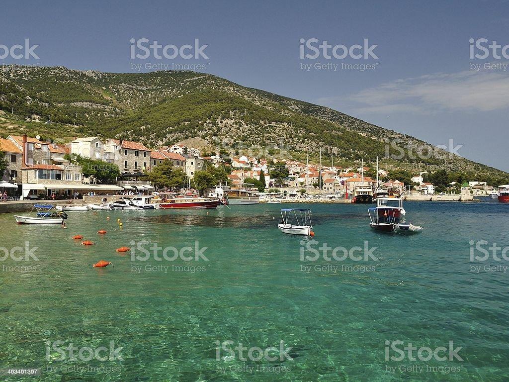 Amazing beach in Bol on island Brac, Croatia stock photo
